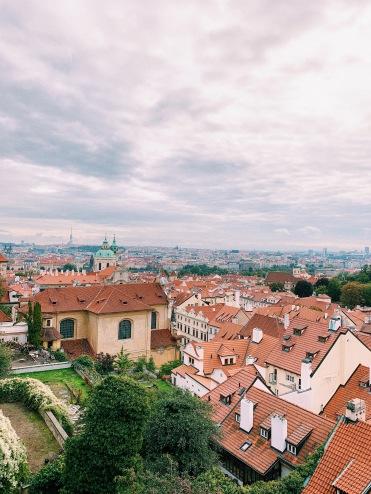Ausblick in der Nähe der Prager Burg